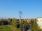 Havária L-39 Albatros, Sliač, 10. októbra 2018, dym 3.jpg