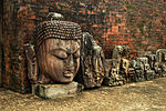 Major ruined Buddhist site with 3 monasteries and hundreds of stupas; abundant sculpture