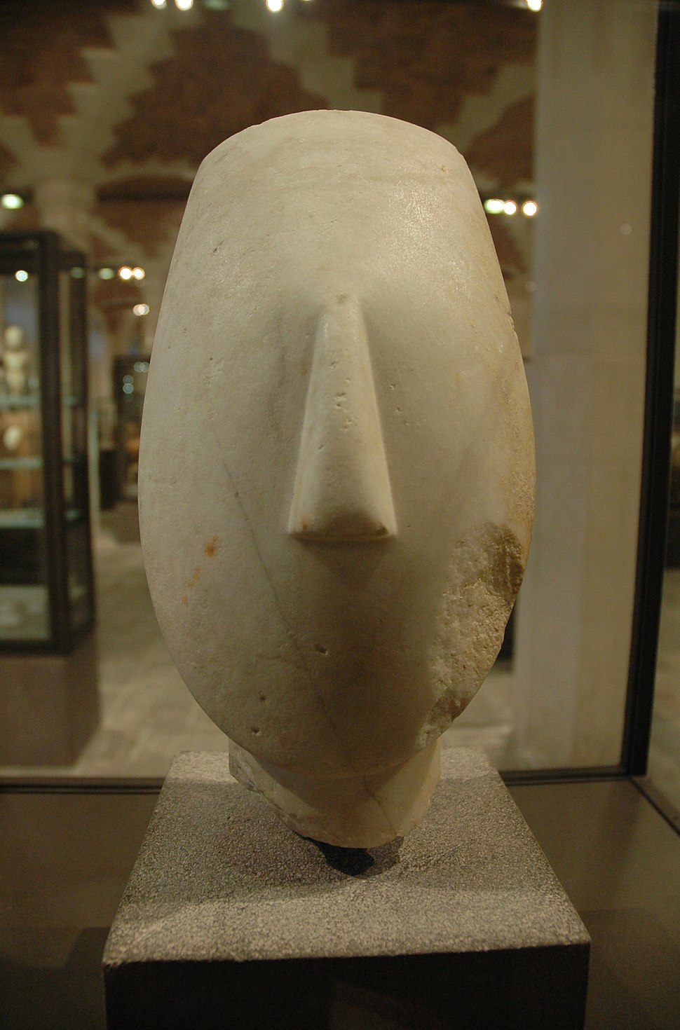 Head figurine Spedos Louvre Ma2709