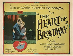 The Heart of Broadway - Lobby card