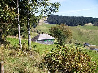 Martin Heidegger - Heidegger's stone-and-tile chalet clustered among others at Todtnauberg