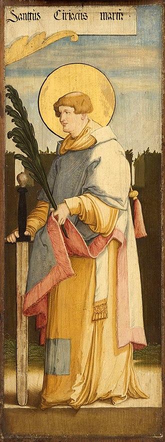 Cyriacus - Saint Cyriacus, by the Master of Meßkirch.