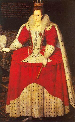 Helena, Marchioness of Northampton - Helena Snakenborg, Marchioness of Northampton, in coronation robes, 1603.