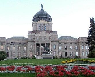 Helena, Montana - The Montana State Capitol building.