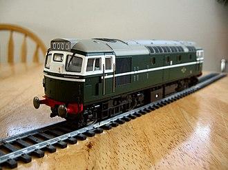 Heljan - Image: Heljan Class 27 in BR Green