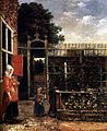 Hendrick van der Burch - Woman with a Child Blowing Bubbles in a Garden - WGA03692.jpg