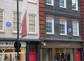 Brook Street - Houses of Jimi Hendrix (No. 23, left) and George Frideric Handel (No. 25)