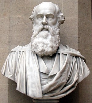 Henry John Stephen Smith - Bust on display in the Oxford University Museum.
