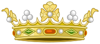 Heraldic Crown of Spanish Marqueses (Variant 1).svg