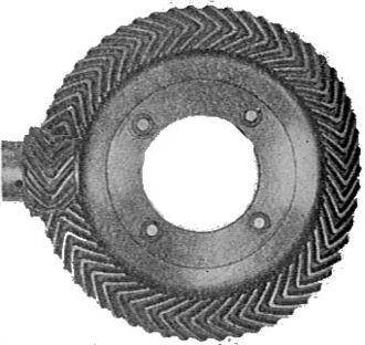 Herringbone gear - Citroën Type A final drive herringbone pinion and crownwheel