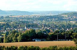 Blick vom Hixberg über Heusweiler in nördliche Richtung