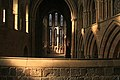 Hexham Abbey Crossing from the top of the Monks' Stair.jpg