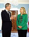 Hillary Rodham Clinton meets with Owen Paterson crop.jpg