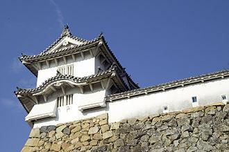 Himeji Domain - A corner tower from Himeji Castle, capital of the Himeji Domain
