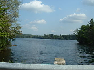 Hinsdale, Massachusetts - Ashmere Lake from Rte. 143, looking north