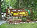 Homosassa Springs State Park sign01.jpg