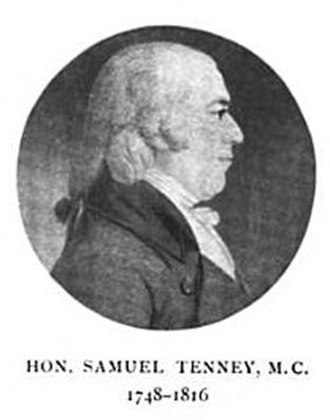 New Hampshire's at-large congressional district - Image: Hon Samuel Tenney MC from History of Byfield