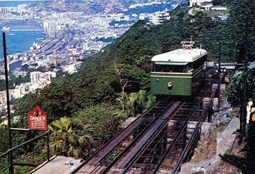 Hong Kong Peak Tram railcar c1972.jpg