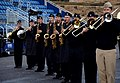 Horns, saxophonists and other musicians with the U.S. Naval Forces Europe band rehearse one of the songs it will play during the Edinburgh tattoo to be held outside Edinburgh, Scotland, castle July 30, 2012 120730-N-VT117-708.jpg