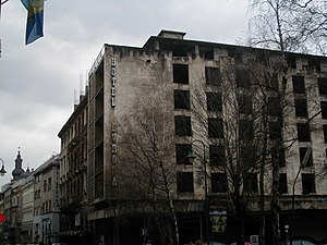 Hotel Europe (Sarajevo) - The Hotel Evropa after the 1990s war