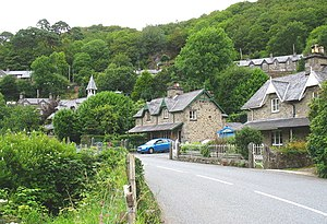 Houses along the A496 on the southern side of the village of Maentwrog - geograph.org.uk - 509102.jpg