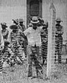 Huddie William Ledbetter in July 1934, from- Angola Prison -- Leadbelly in the foreground (cropped).jpg