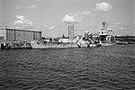 Hulk of USS Killen (DD-593) tied up at Naval Station Roosevelt Roads, in 1975 (NH 98191).jpg