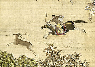 Painting of the Qianlong Emperor hunting Hunting Journey on Horseback.jpg