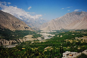 Mayoon - View of Hunza Valley near Mayoon
