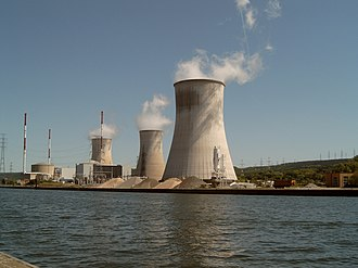 Tihange Nuclear Power Station - The station from the opposite bank of the Meuse (2007).
