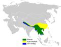 Hypsipetes leucocephalus distribution map.png
