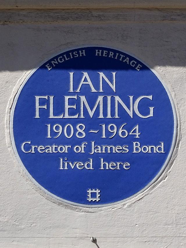 Ian Fleming blue plaque - Ian Fleming 1908-1964 creator of James Bond lived here