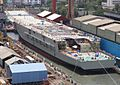 INS Vikrant during its christening ceremony (3).jpg
