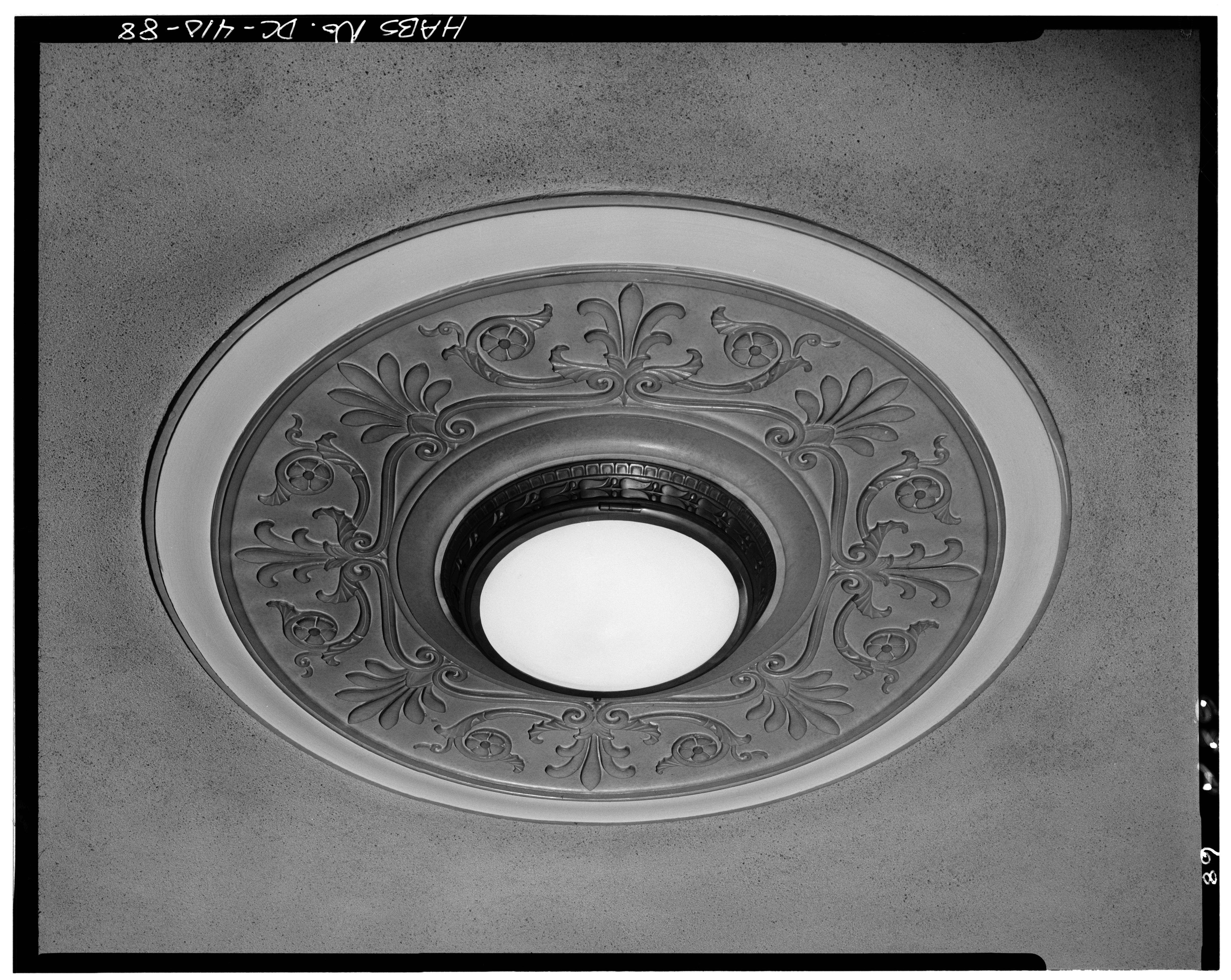 Foyer Ceiling Medallion : File interior second floor north entrance foyer