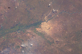 View of Juba from space