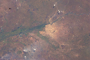 Juba - View of Juba from space