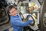 ISS-51 Peggy Whitson with the Microgravity Science Glovebox in the Destiny lab.jpg
