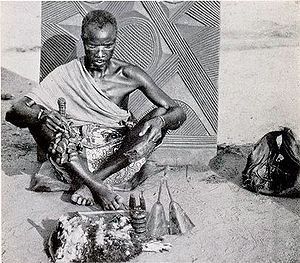 Traditional African religions - An early 20th century Igbo medicine man in Nigeria, West Africa