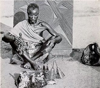 Traditional African religions - An early-20th-century Igbo medicine man in Nigeria, West Africa