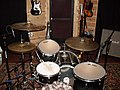 Ilyas drum-kit miked up - player side, Recording Fischer, Compound Recording, 2008-01-17.jpg