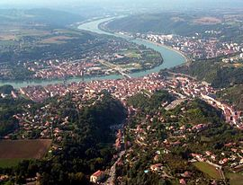 An aerial view of Vienne
