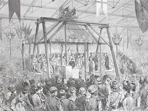 The Prodigal Son (Sullivan) - Sullivan conducts the Imperial Ode as Queen Victoria lays the foundation stone, 1887