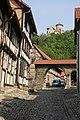 In und um Treffurt an der Werra in Thüringen - Blick Bergstrasse zur Burg Normannstein - panoramio.jpg