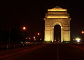 India Gate from Rajpath at Night.JPG