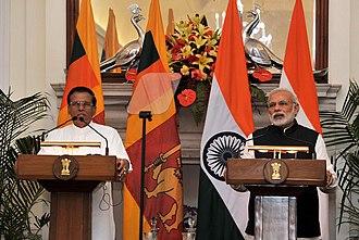 Maithripala Sirisena - President Maithripala Sirisena on a State Visit to India, February 2015