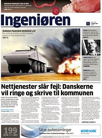 Ingeniøren - Image: Ingeniørens forside 2009 01 09