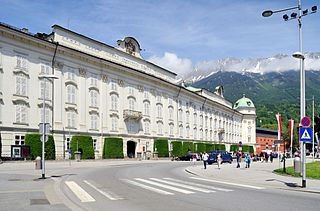 Hofburg, Innsbruck Habsburg palace in Innsbruck, Austria, and considered one of the three most significant cultural buildings in the country, along with the Hofburg Palace and Schönbrunn Palace in Vienna