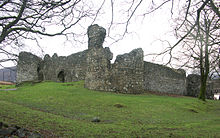 Photo of a ruined castle