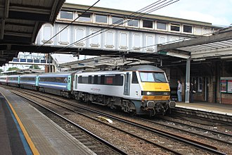 Greater Anglia (train operating company) - Image: Ipswich Greater Anglia 90005 up arrival