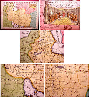 "Iranian studies - 1748 French map by Le Rouge titled ""L'Empire de Perse""."